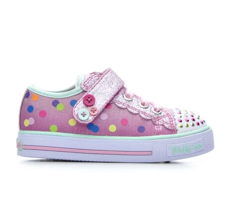 Girls' Skechers Infant Dazzle Dots 5-10 Light-Up Sneakers