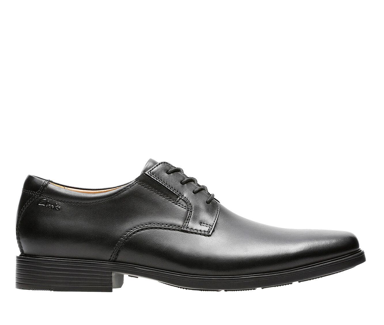 Men's Clarks Tilden Plain Toe Dress Shoes Black