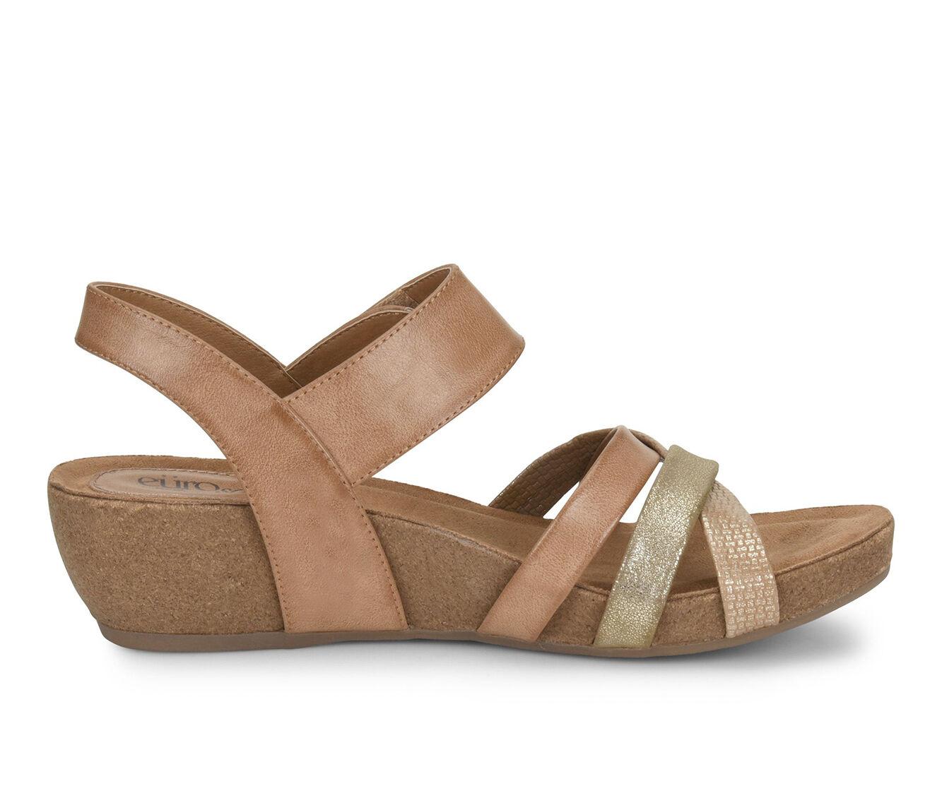 Women's EuroSoft Renae Strappy Wedge Sandals Toast