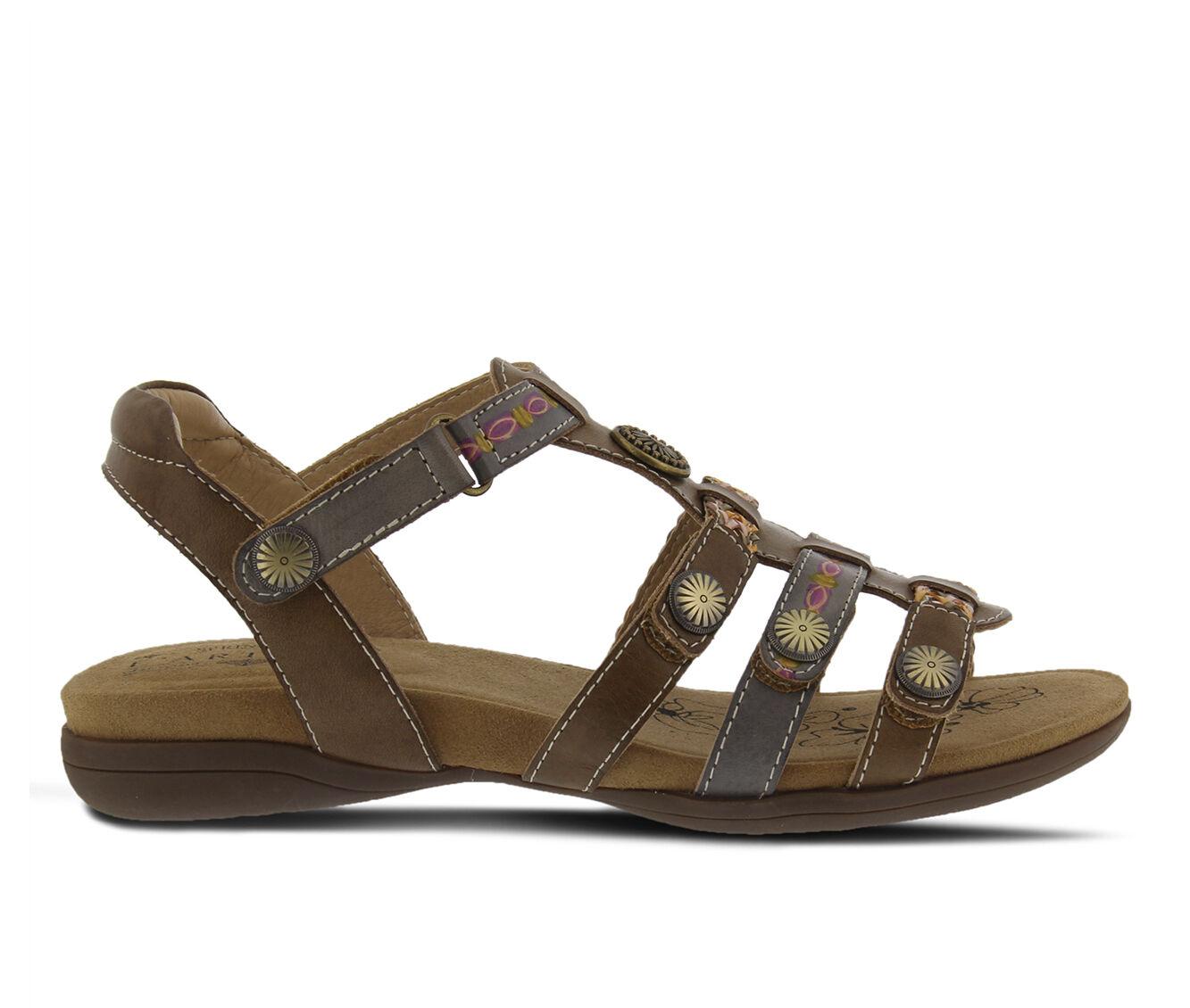 Women's L'ARTISTE Jerlene Sandals Khaki Multi