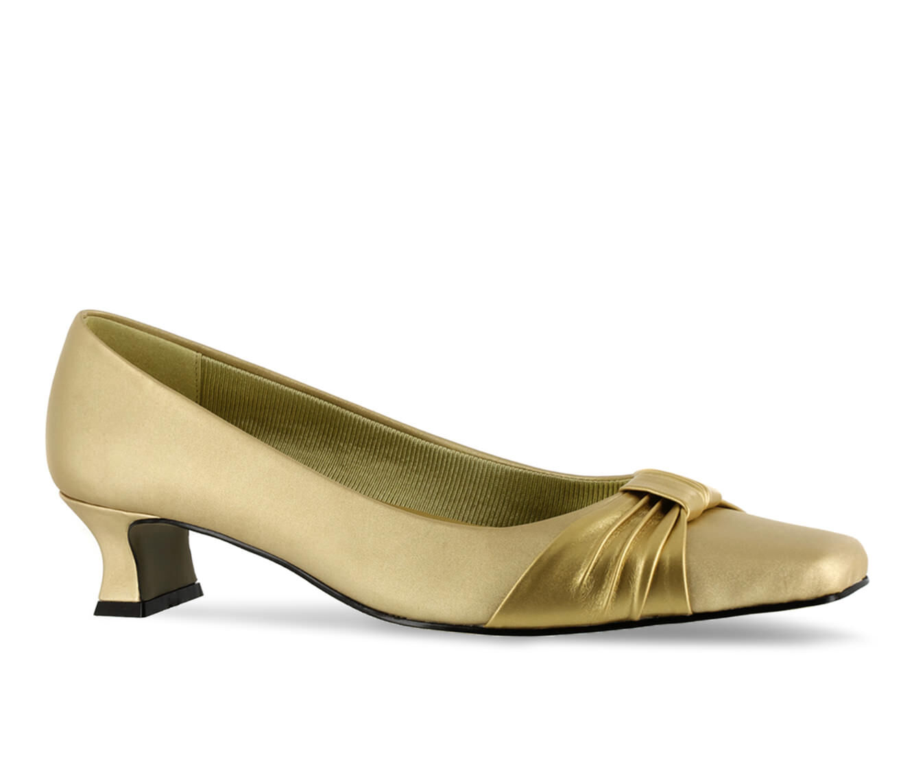 Women's Easy Street Waive Shoes Gold Satin