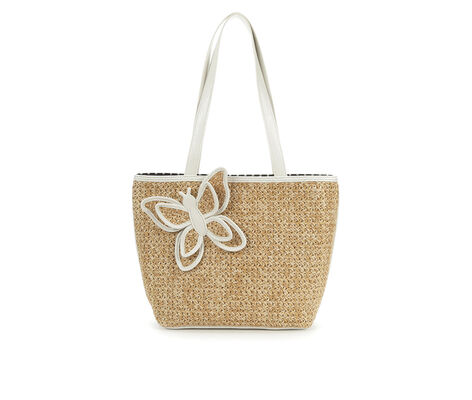 Bueno Of California Straw Tote Handbag
