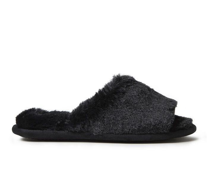 Dearfoams Cindy Furry Slide Slippers