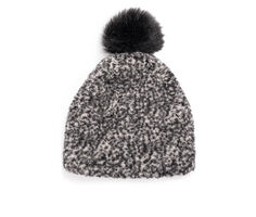 Muk Luks Women's Frosted Sherpa Pom Hat