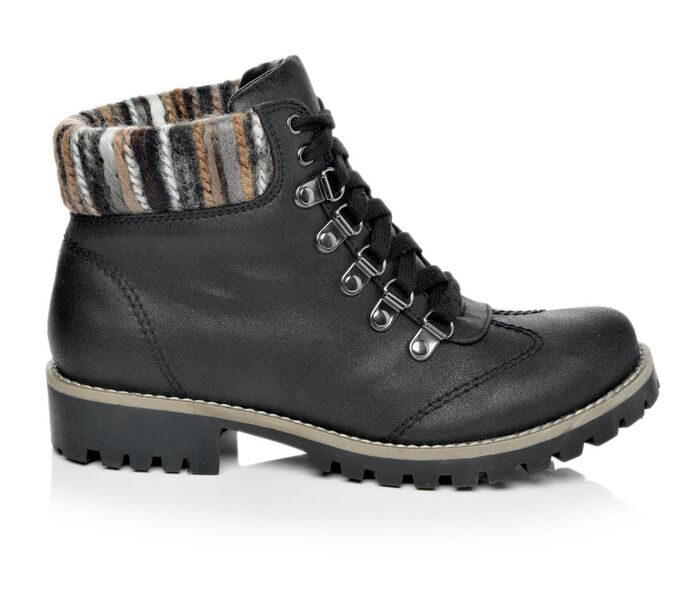 Women's Cliffs Portsmouth Sweater Cuff Lace-Up Boots