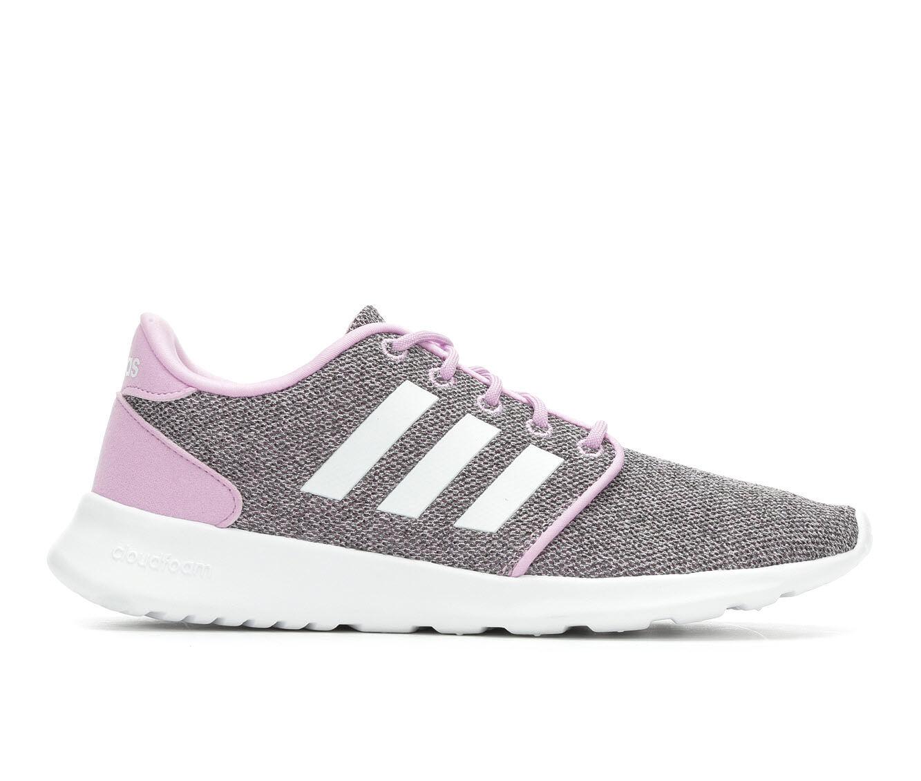 Women's Adidas Cloudfoam QT Racer Sneakers Lilac/White