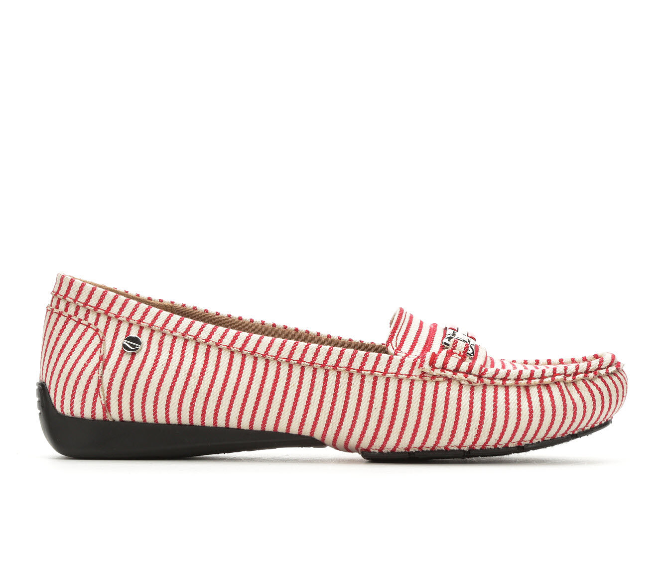 Women's LifeStride Vanity Loafers Red/White Canva