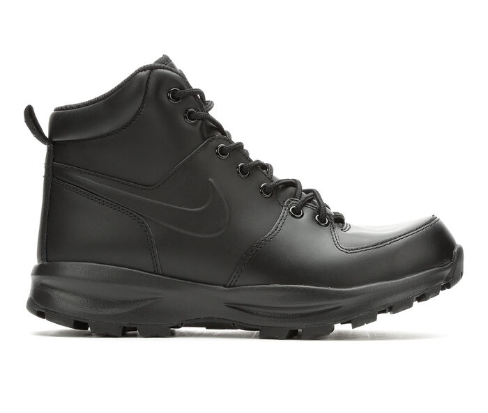 Black Leather Boots Shoe Carnival