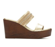 Women's Italian Shoemakers Audi Wedge Sandals