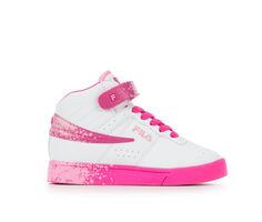 Girls' Fila Little Kid & Big Kid Vulc 13 Splat High-Top Sneakers