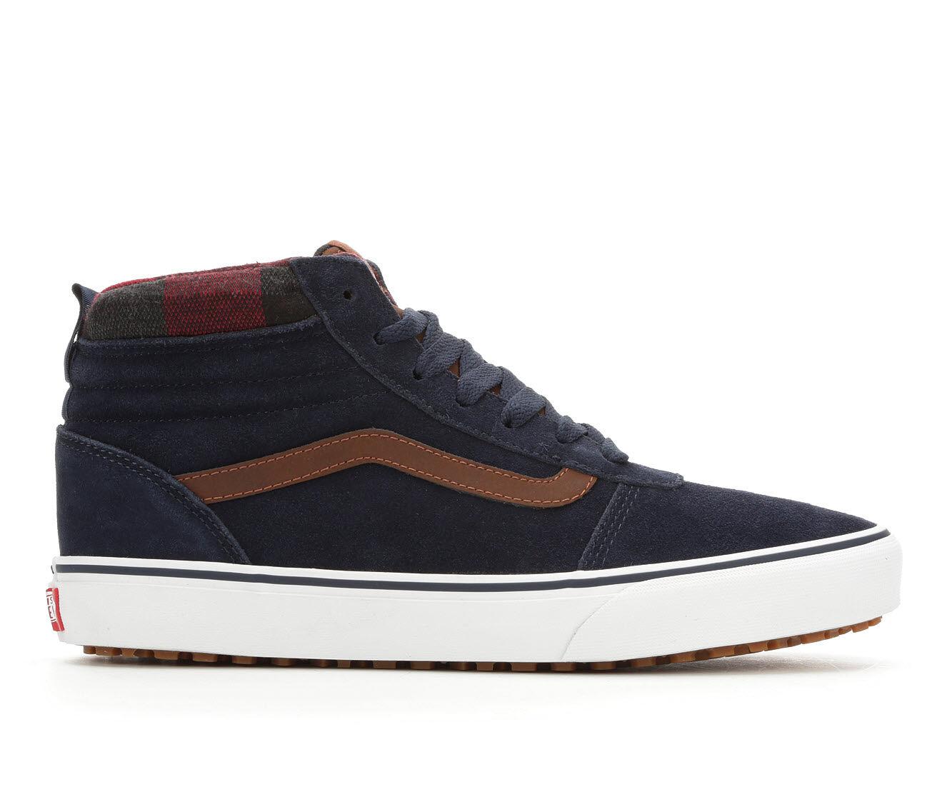 factory direct Men's Vans Ward Hi MTE Skate Shoes Blu/Brn/Wht/Pld