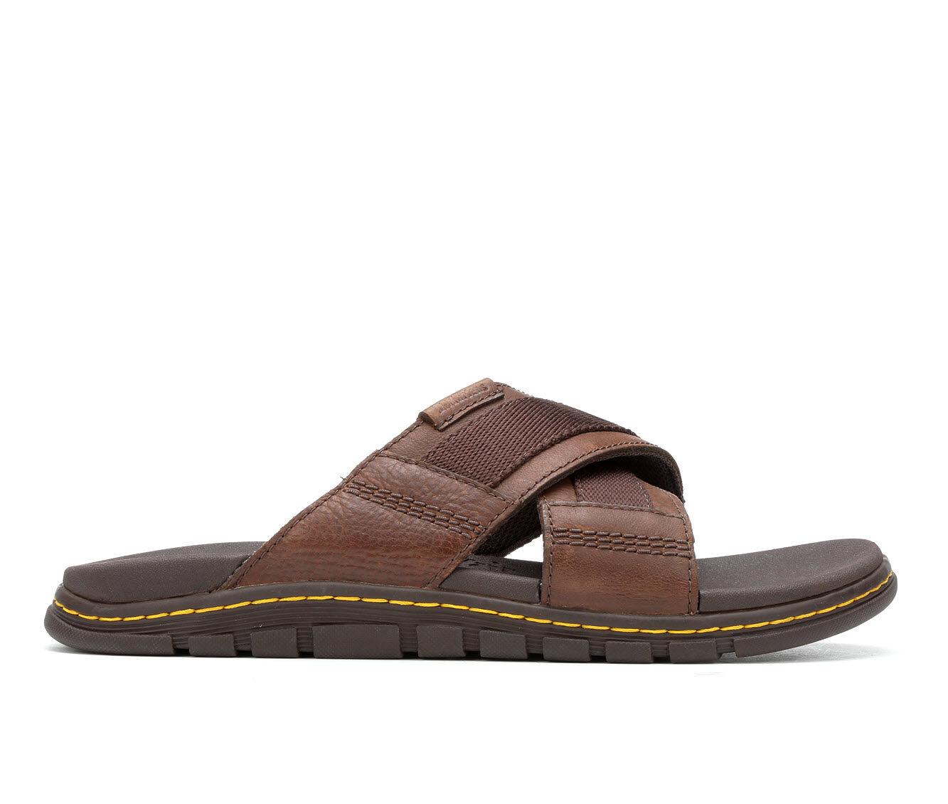 purchase latest Men's Dr. Martens Athens Slide Outdoor Sandals Tan/Dark Brown