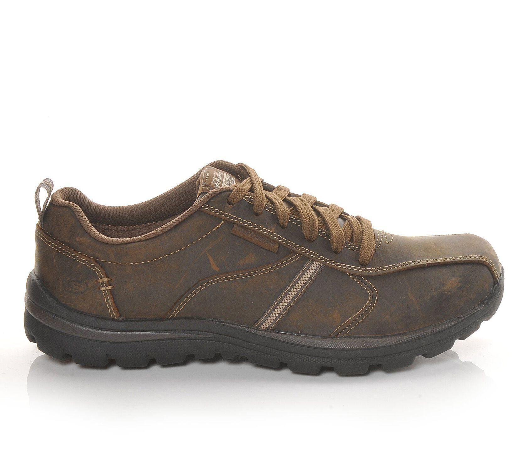 skechers relaxed fit levoy men's shoes black