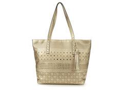 Bueno Of California Perforated Tote Handbag