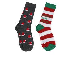 Apara 2 Pair Women's Holiday Crew Socks