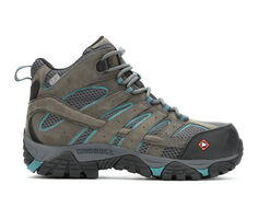Women's Merrell Work Moab Vertex Mid Waterproof Comp Toe Work Shoes
