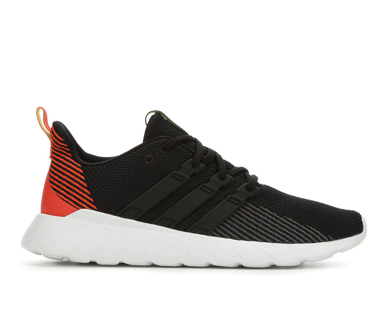 Last style Men's Adidas Questar Flow Running Shoes Blk/Org/Wht