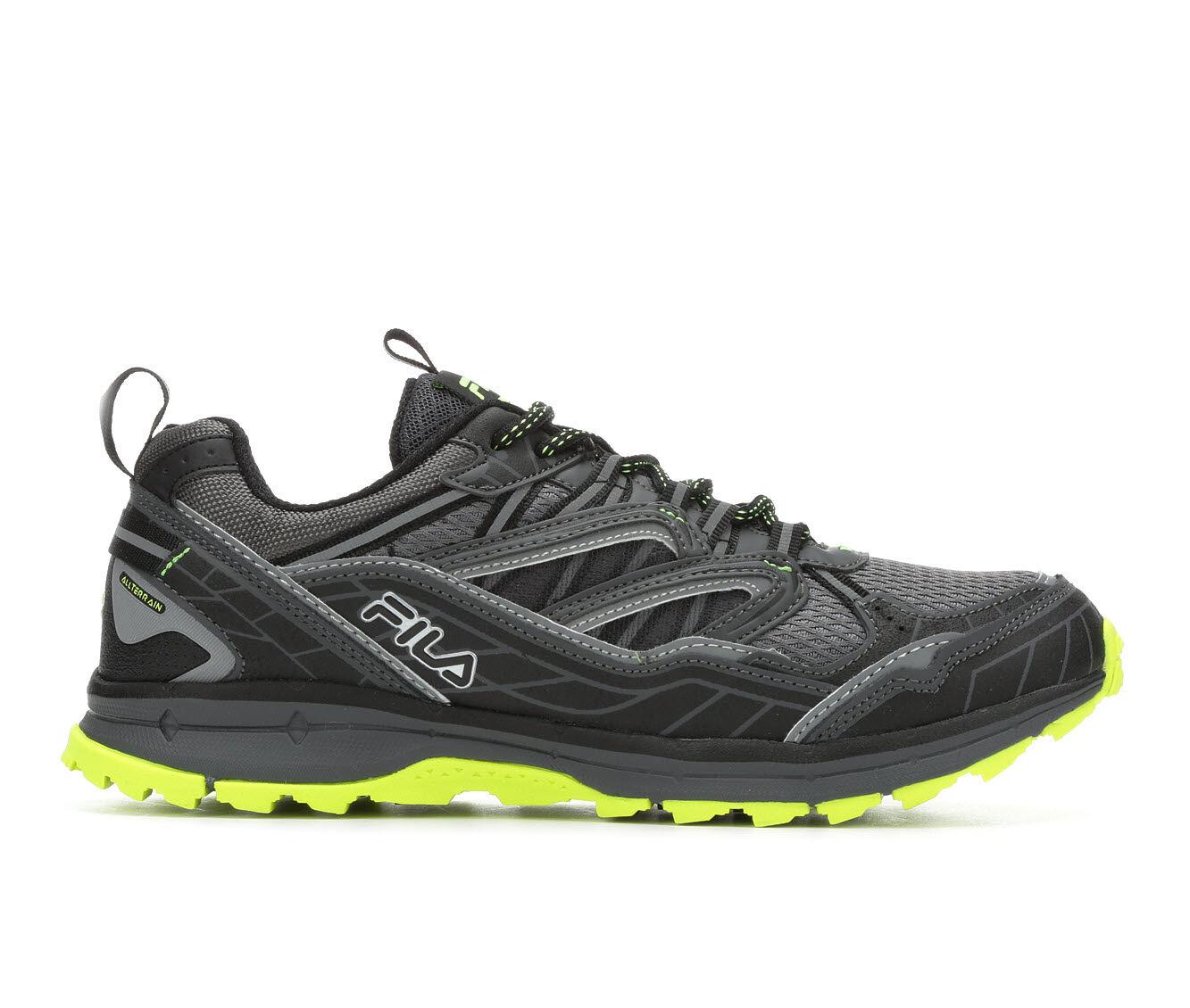 In Stock Men's Fila TKO TR 7.0 Trail Running Shoes Blk/Vlt/Gry
