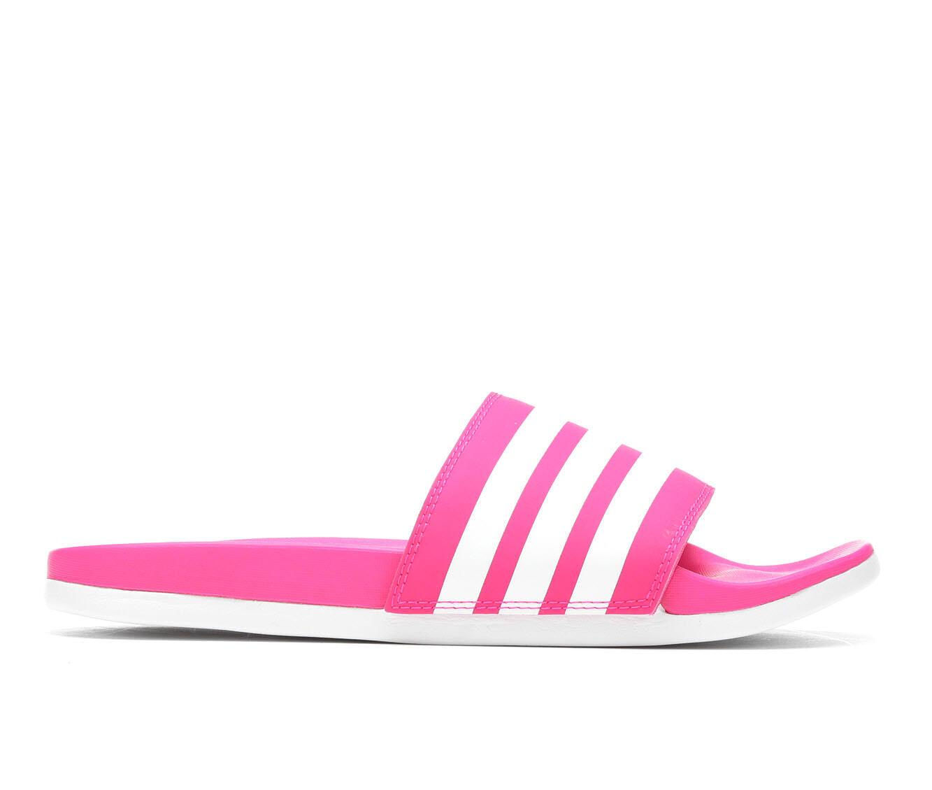 Women's Adidas Adilette CF Stripes Sport Slides Pink/white/pnk