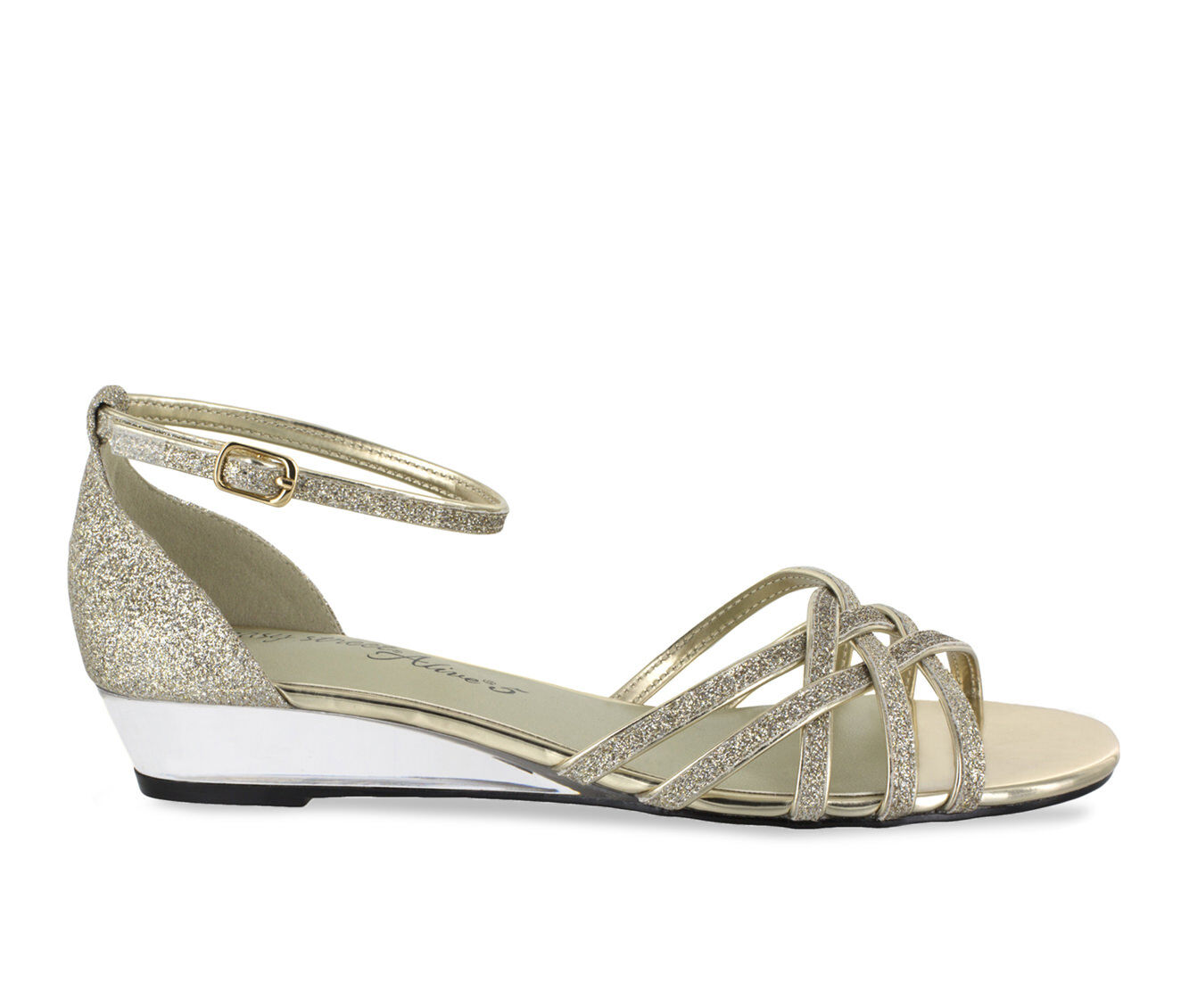 Women's Easy Street Tarrah Shoes Gold Glitter