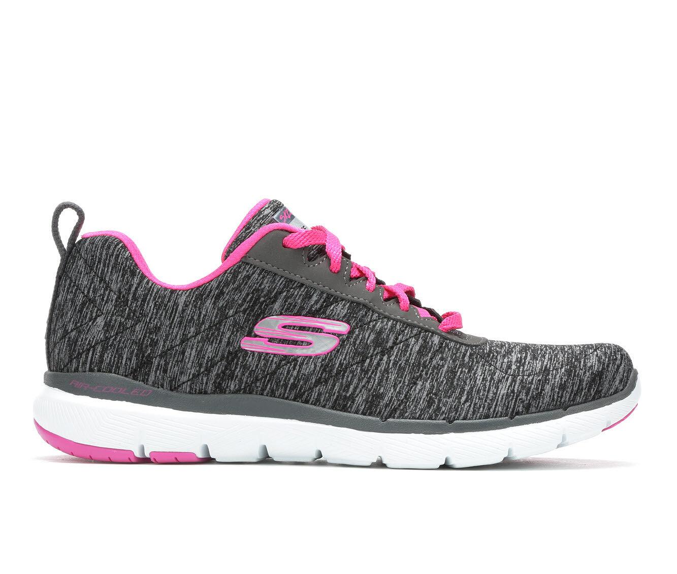 Women's Skechers Insiders 13067 Sneakers Black/Grey/Pink
