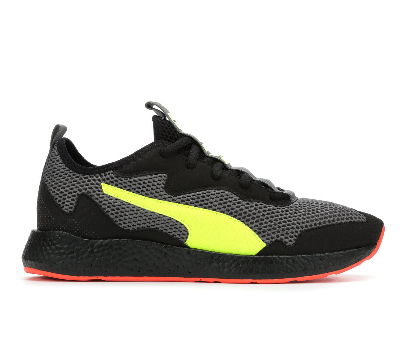 purchase clearance Men's Puma NRGY Neko Skim Sneakers Gry/Blk/Yell/Rd