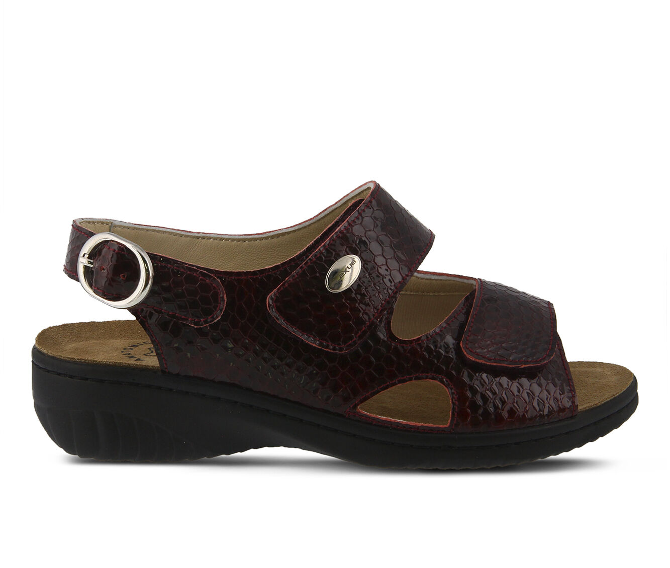 High-Fashion Women's FLEXUS Aksamala Sandals Bordeaux Pat