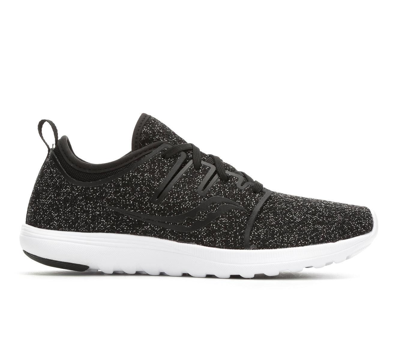 Women's Saucony Eros Lace Sneakers Black Speckl/Wh