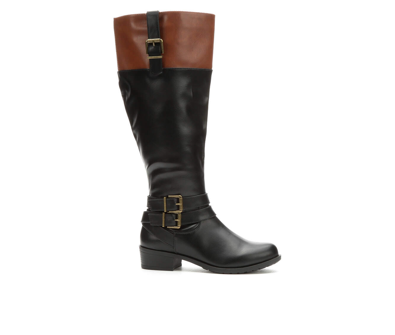 a huge range of Women's Solanz Grammercy Wide Width Wide Calf Riding Boots Black/Cognac W