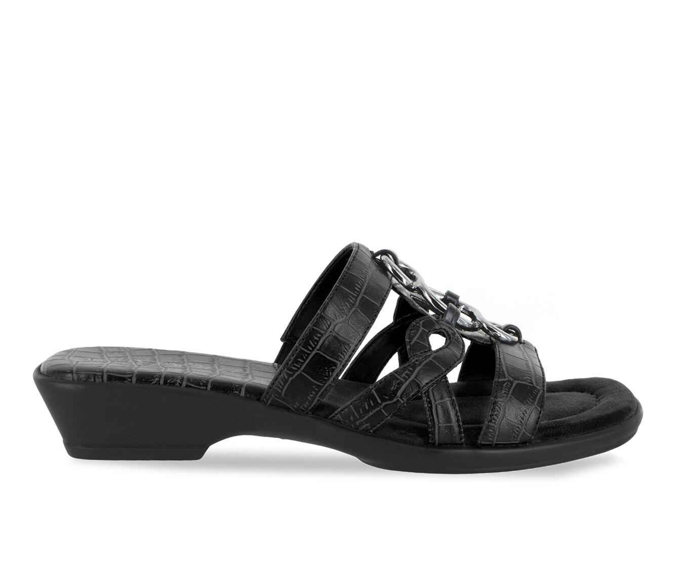 Women's Easy Street Torrid Sandals Black Croco