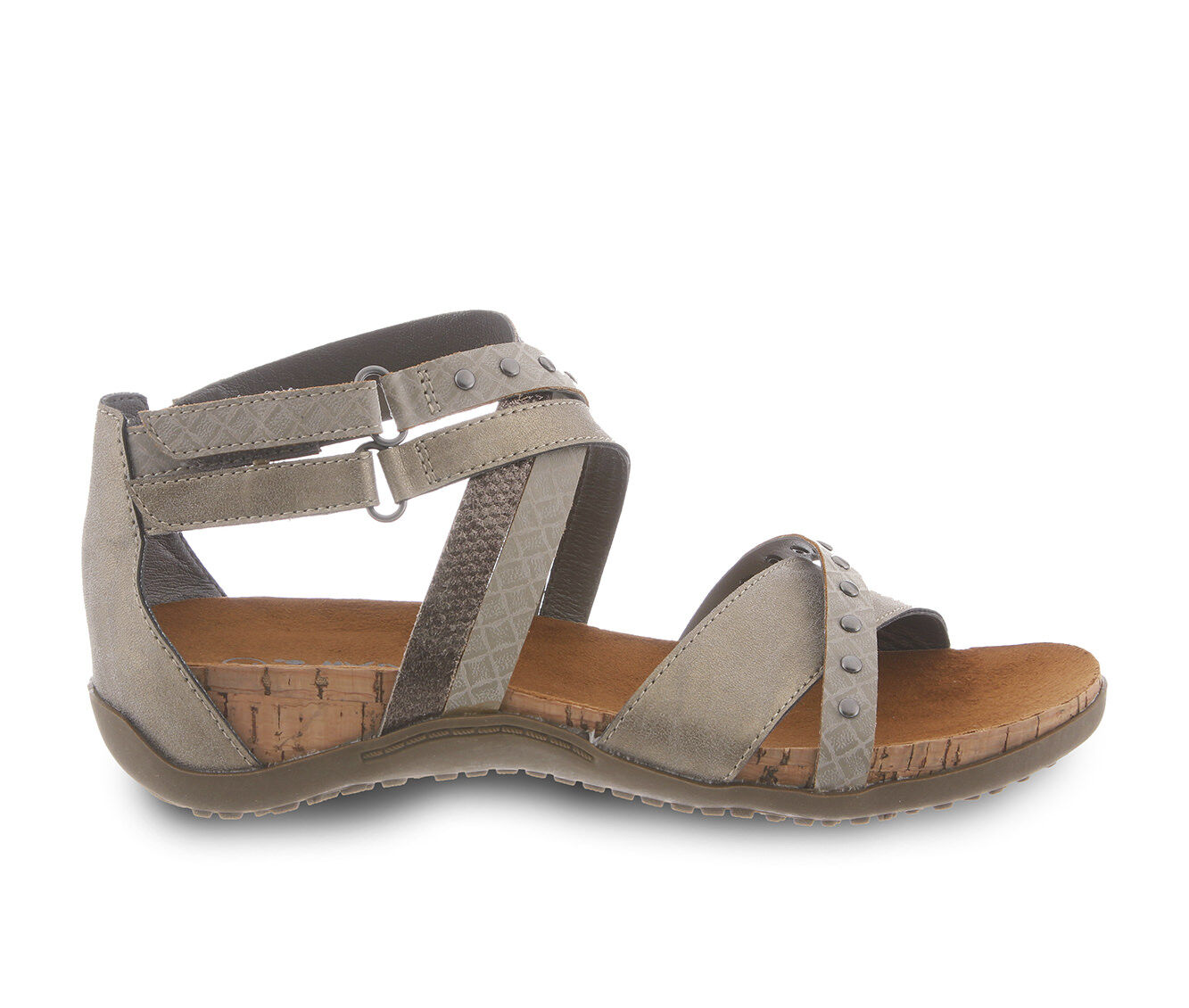 Women's Bearpaw Juliana Strappy Footbed Sandals Pewter