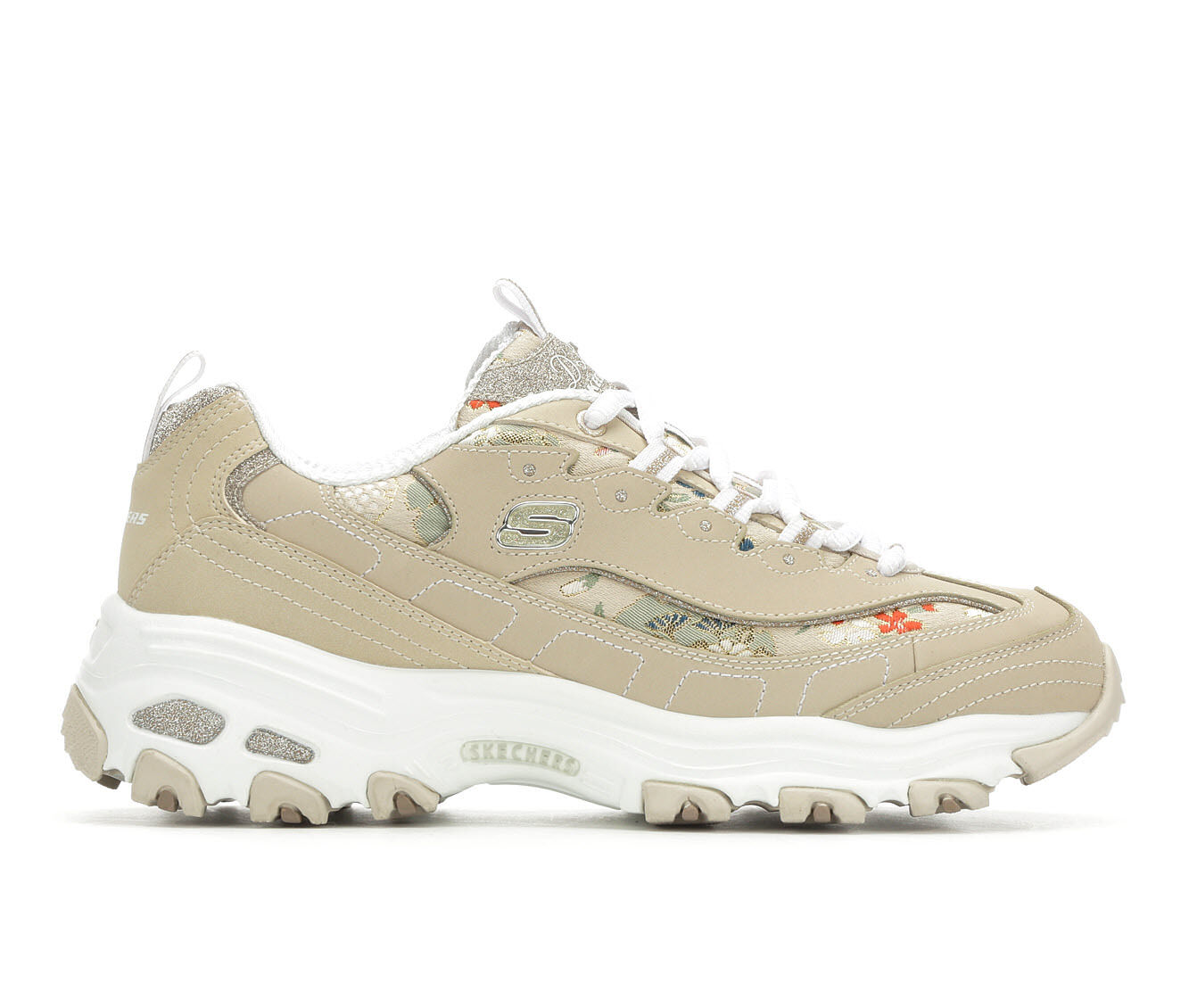 Women's Skechers D'Lites Floral Days 13082 Sneakers Taupe