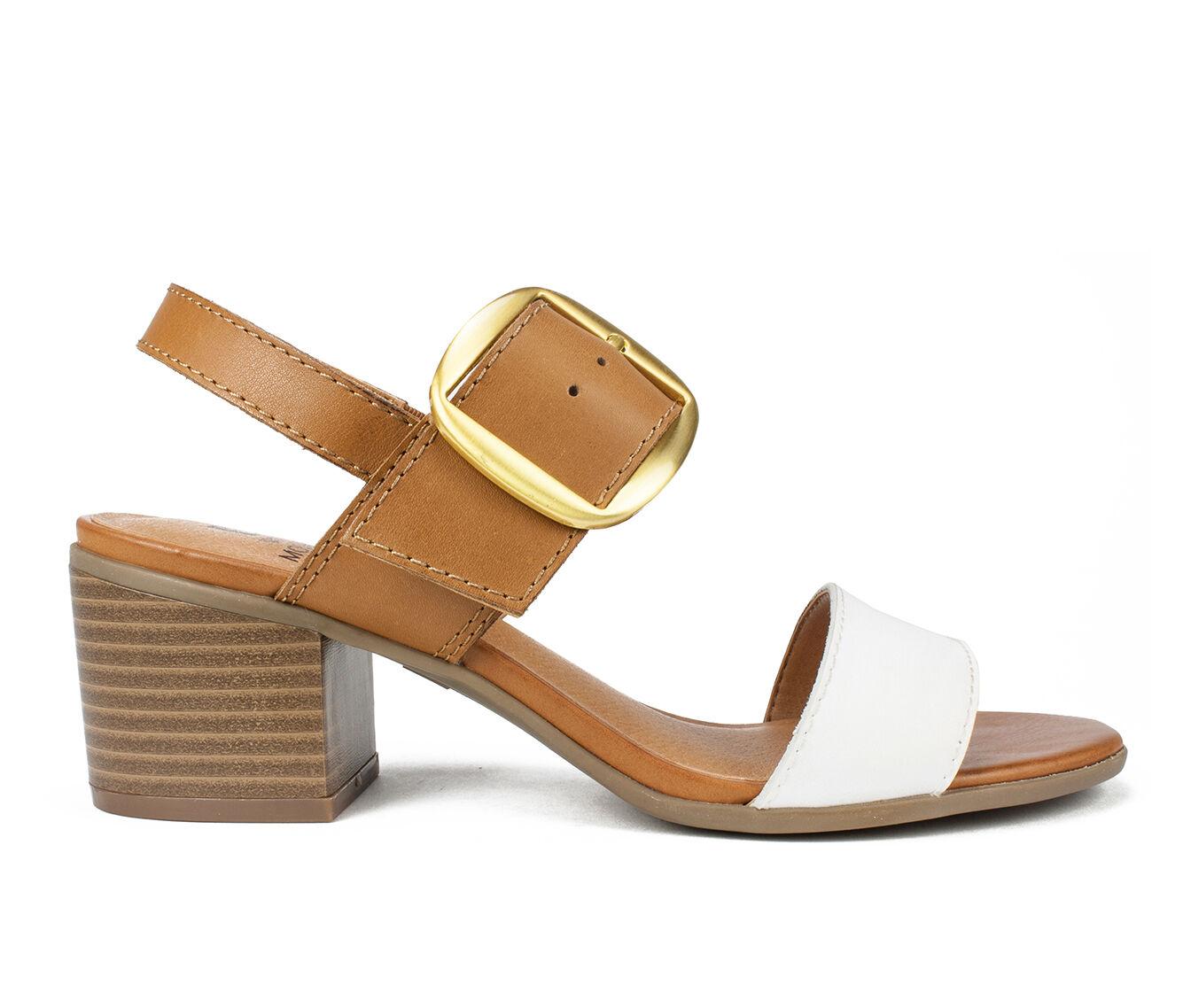 Women's White Mountain Lamar Dress Sandals Cognac/White