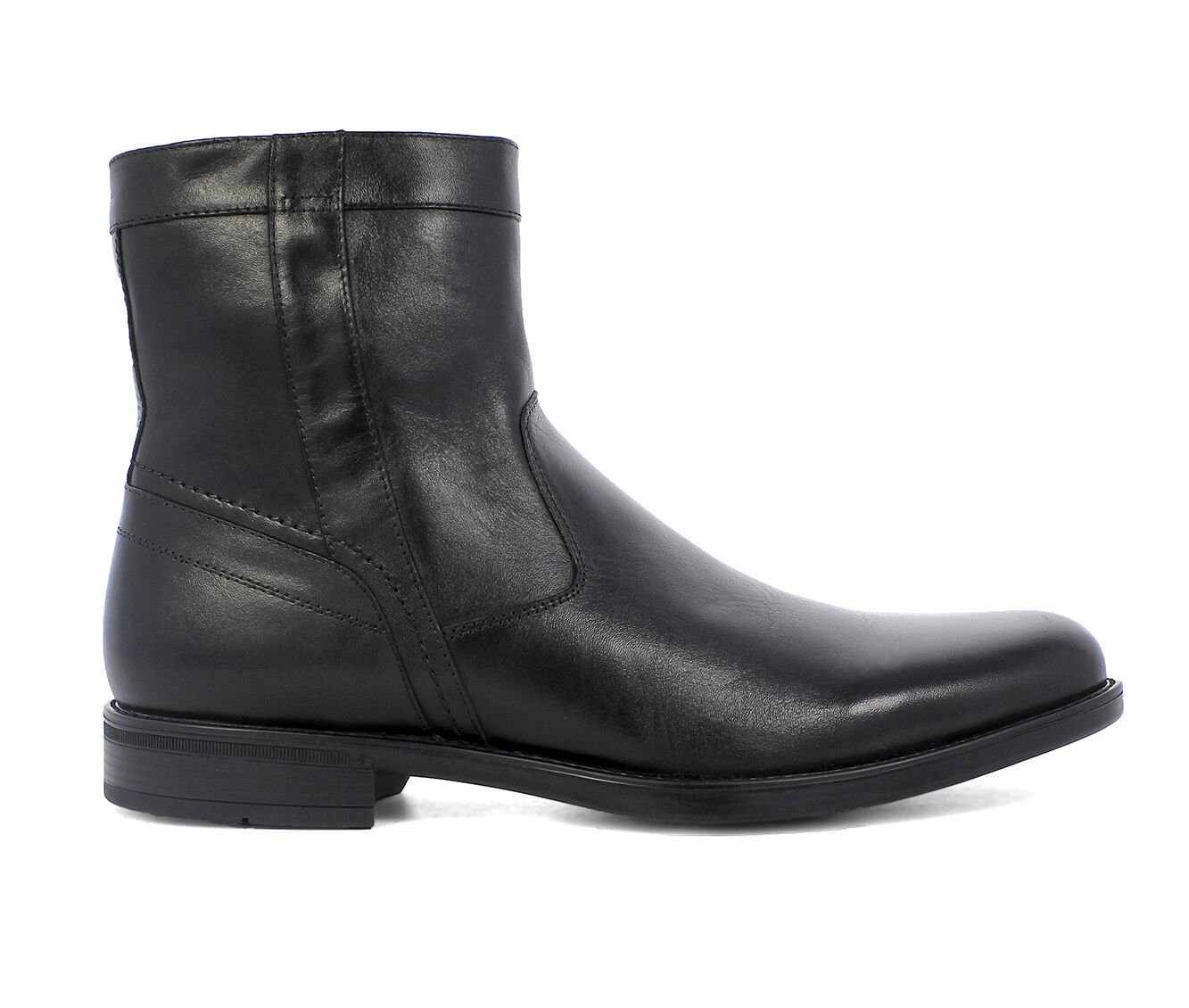 In Stock Men's Florsheim Midtown Zip Dress Boots Black