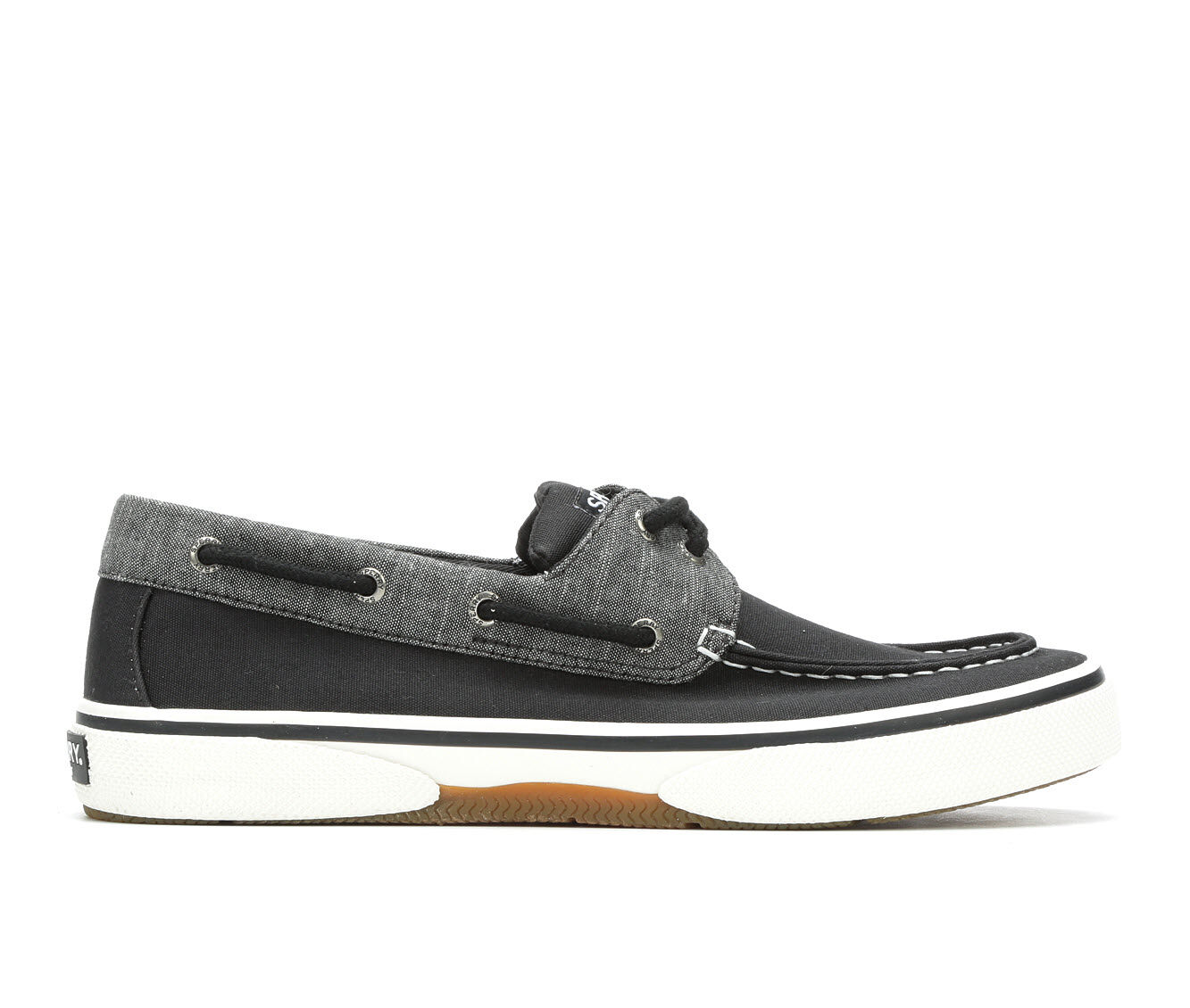 Men's Sperry Halyard 2 Eye Chambray Casual Shoes Grey