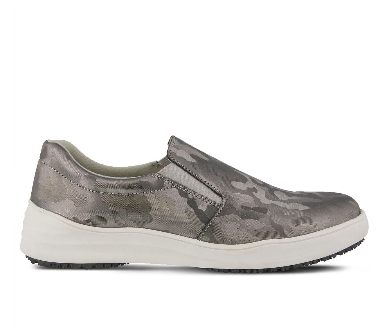 Women's SPRING STEP Waevo Camo Slip Resistant Shoes Silver