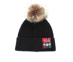 David and Young Dog Mom Pom Hat