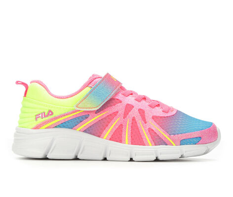 Girls' Fila Fraction Strap G 10.5-7 Running Shoes
