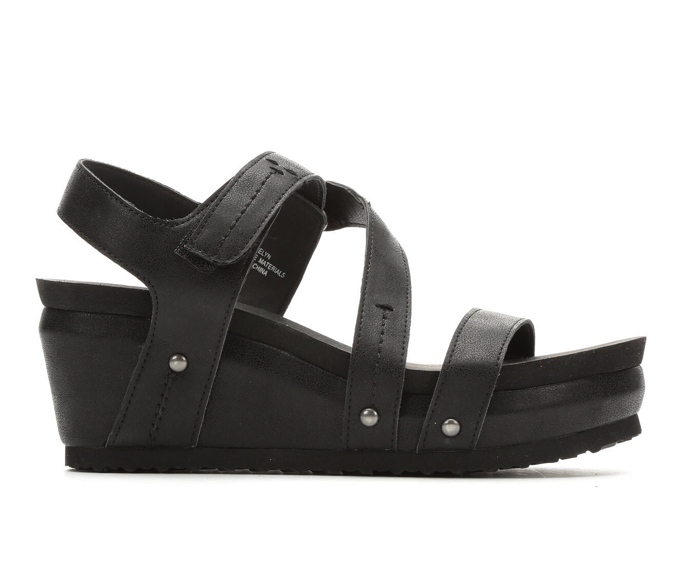 Women's Axxiom Evelyn Strappy Wedge Sandals Black