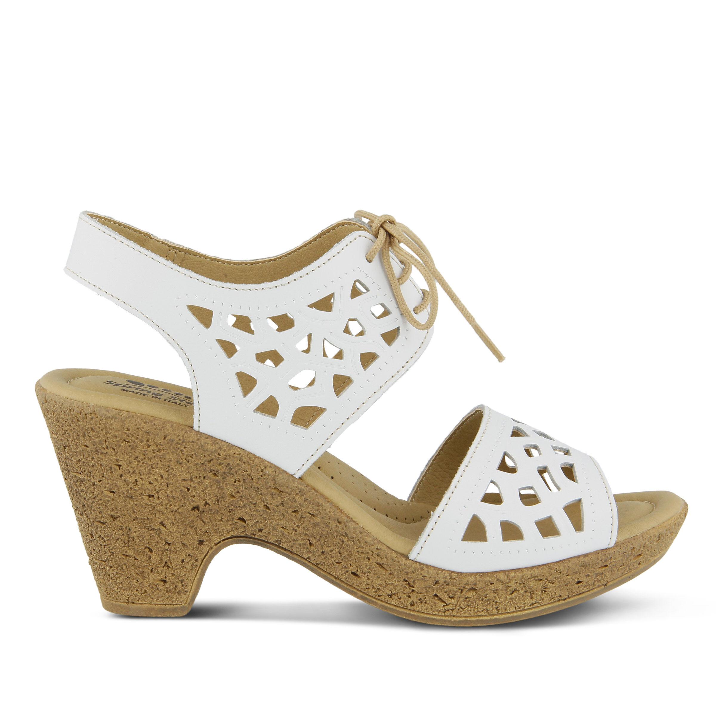 Wholesale UK Women's SPRING STEP Lamay Heeled Sandals White