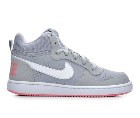 Girls' Nike Court Borough Mid 3.5-7 Sneakers