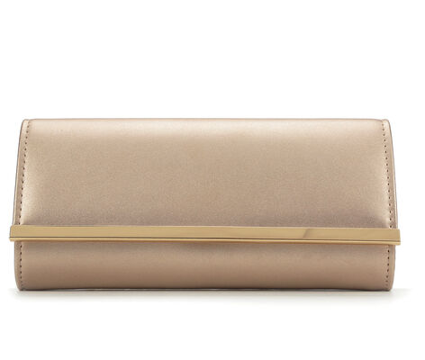 Four Seasons Handbags Faux Leather Clutch
