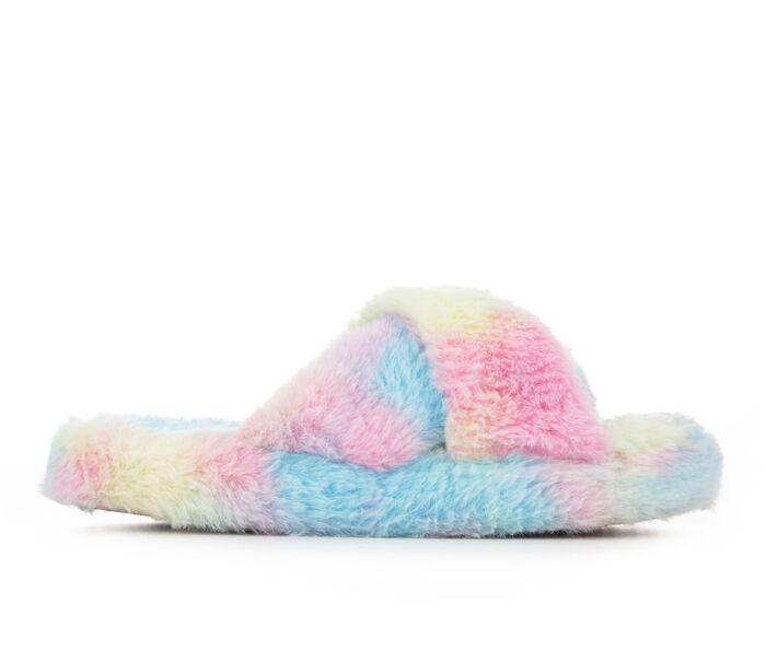 Jessica Simpson Women's Platform Plush Cross Slide Slippers