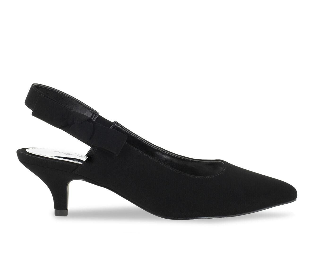 Women's Easy Street Arden Shoes Black Suede