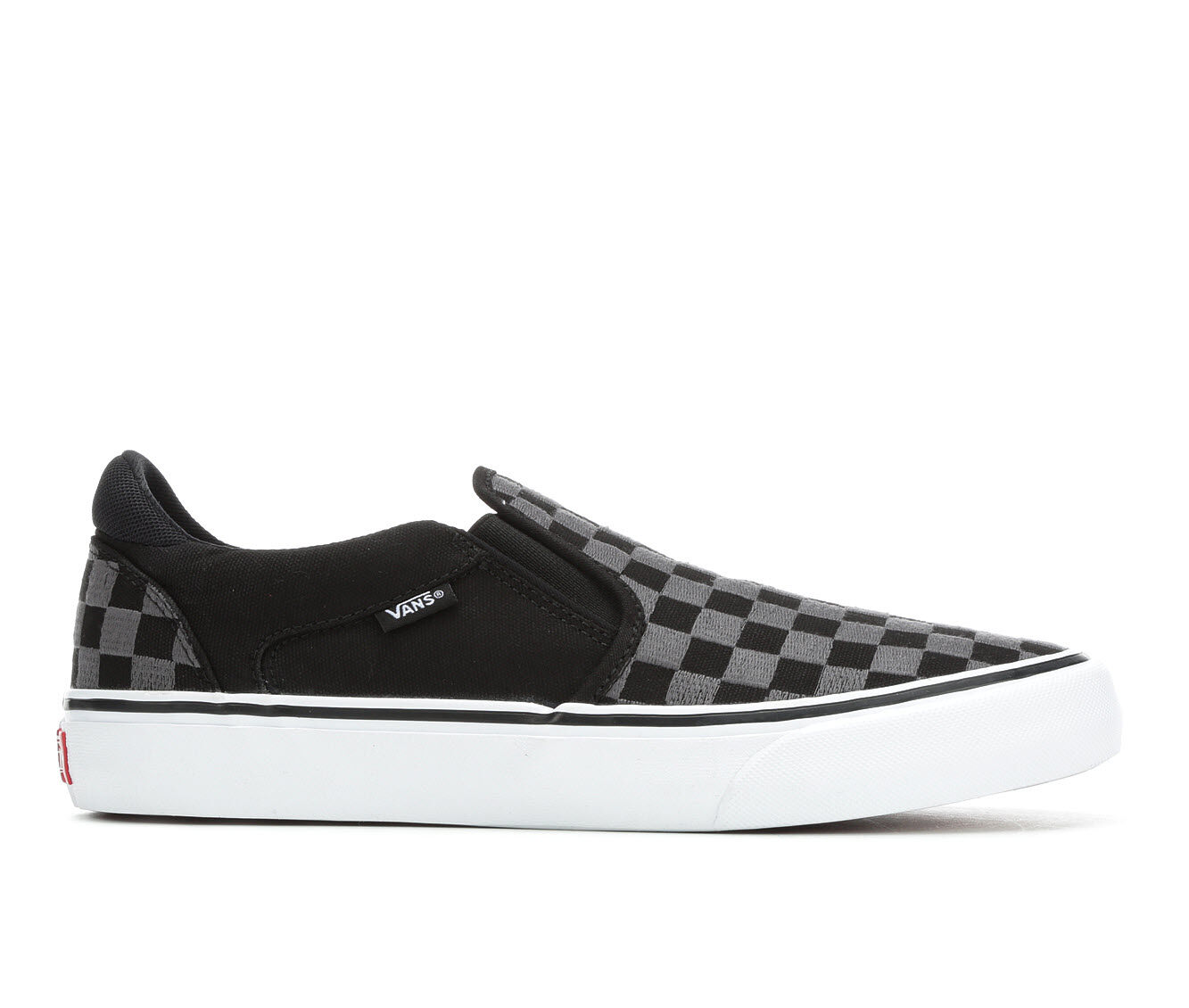 Men's Vans Asher-Deluxe Skate Shoes Blk/Grey Check