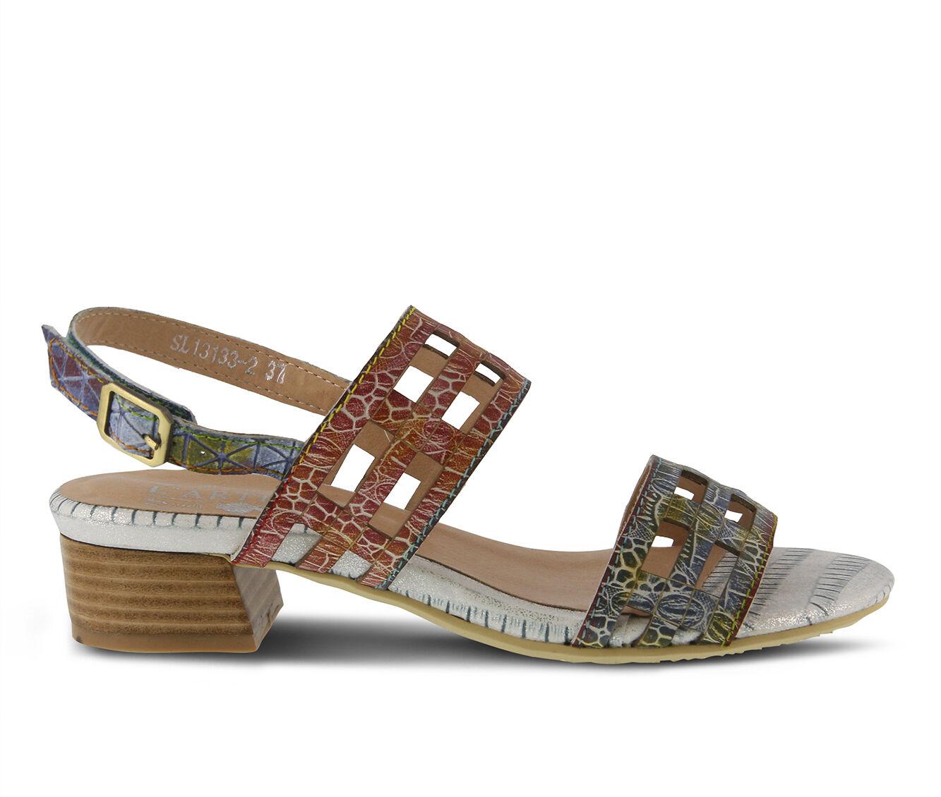 Women's L'ARTISTE Anesa Sandals Blue Multi