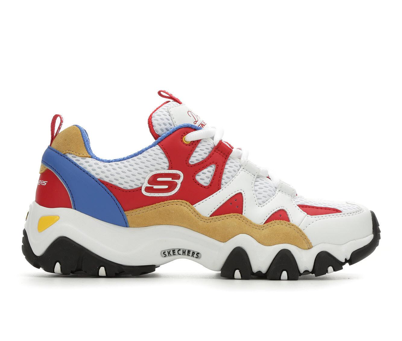 Women's Skechers D'Lites 2.0 12937 Sneakers Wht/Orange/Blue