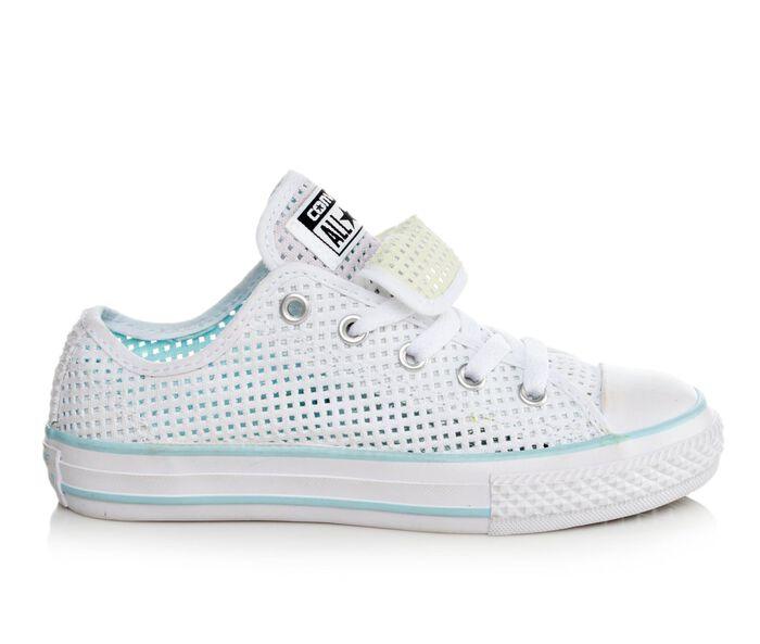 Girls' Converse Chuck Taylor Double Tongue Perfed Ox Sneakers