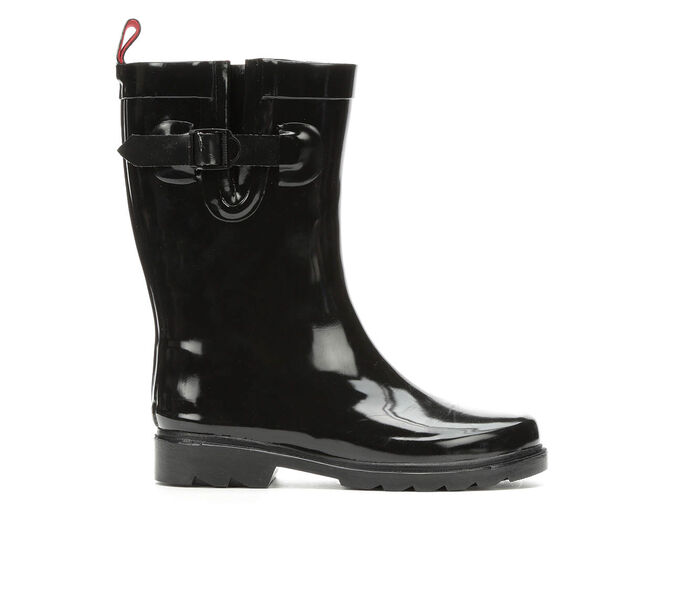 Women's Capelli New York Shiny Solid Mid Rain Boots