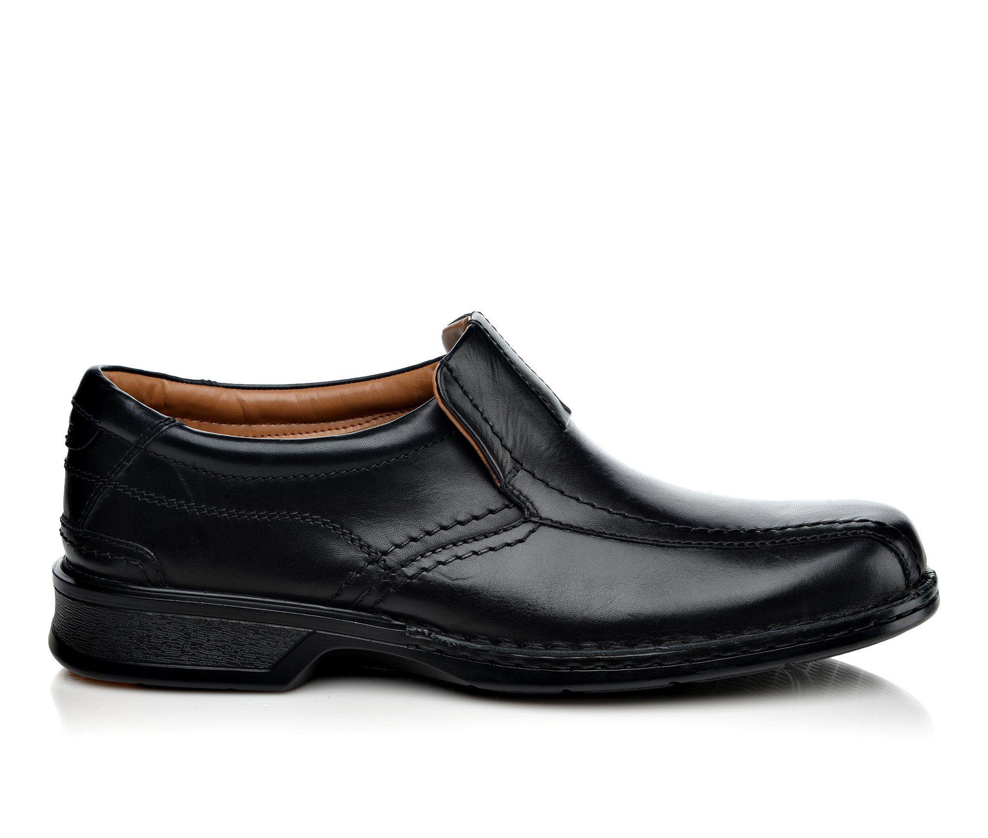 Men's Clarks Escalade Step Slip-On Shoes Black